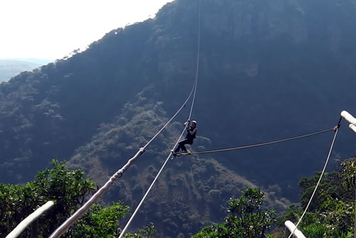 Enjoy the world's longest zipline at Lake Eland