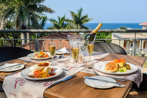 Enjoy breakfast on our deck!