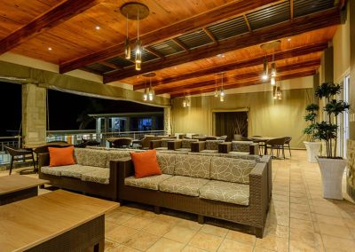 Umthunzi Terrace Deck at night