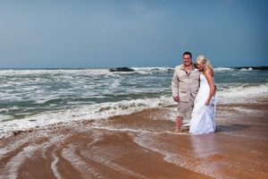 Weddings @ Umthunzi -- Bride and Groom on beach