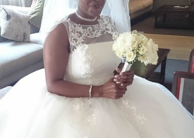 Bride in reception at Umthunzi before wedding ceremony