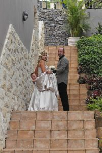 Weddings @ Umthunzi -- Bride and Groom on steps