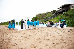 Weddings @ Umthunzi -- beach reception at Umtentweni Beach