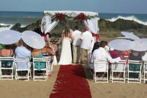 Beach wedding @ Umthunzi