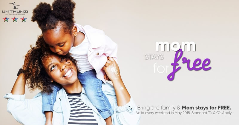 Mom stays for free at Umthunzi for Mother Day Monthr
