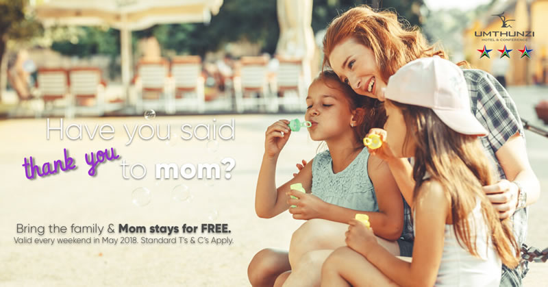 Mom stays for free in May 2018 at Umthunzi