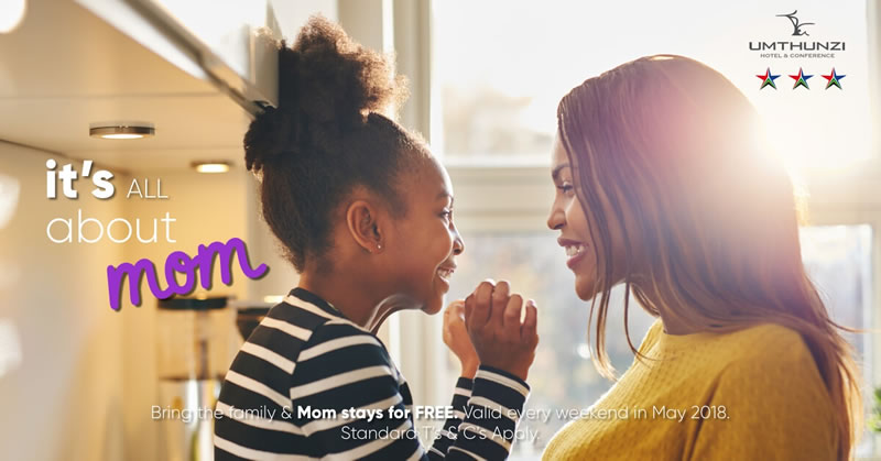 Mom stays for freeat Umthunzi Hotel during May
