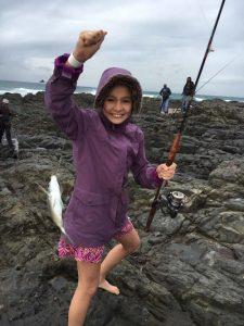 Fishing fun on Tweni beach