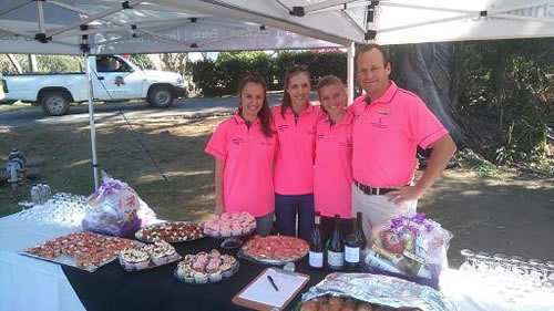 Ryan and staff at golf day