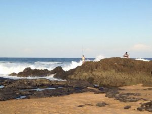 Tweni beach fishing on rocks