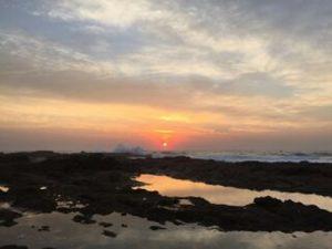 Winter sunrise at Tweni Beach