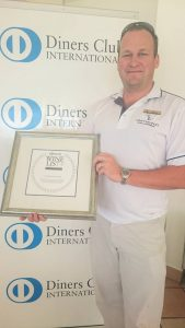 Ryan with diners club award