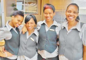 Waitresses at Umthunzi Hotel and Conference