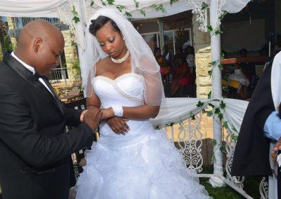 Wedding ceremony at Umthunzi Hotel