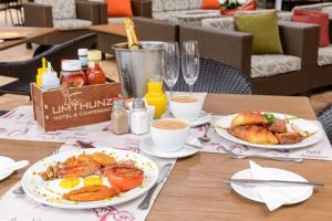 Hearty breakfasts are served at the restaurant