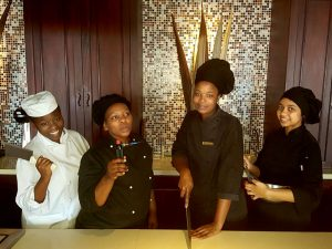 Umthunzi Restaurant chefs posing for the camera