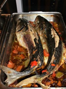 Fish on the menu at Umthunzi Hotel