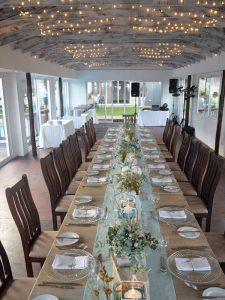 Wedding reception held in Milkwood Chapel.
