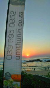 Umthunzi banner at sunrise
