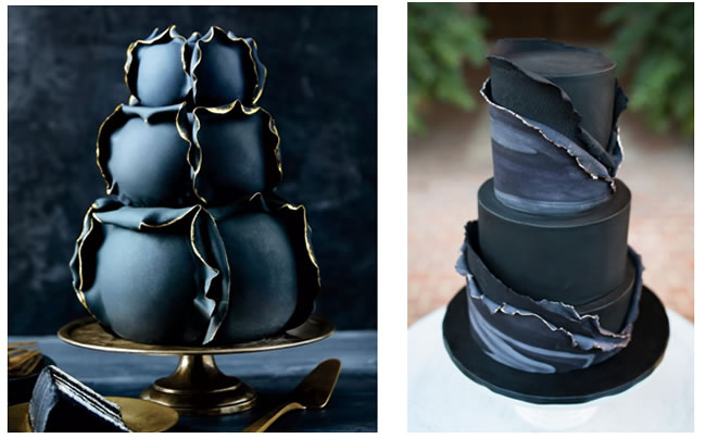 darker wedding cakes are trending this season