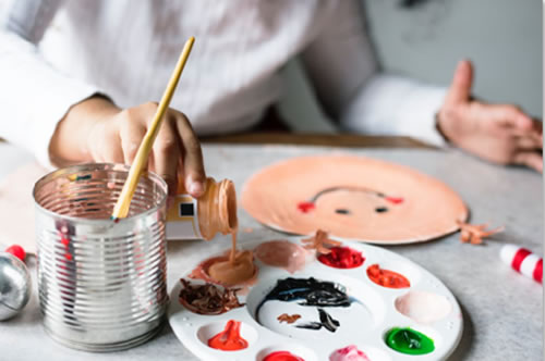 How about an Arts & Crafts Table for the kids?