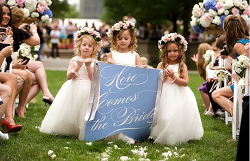 Who is for kids at a wedding?